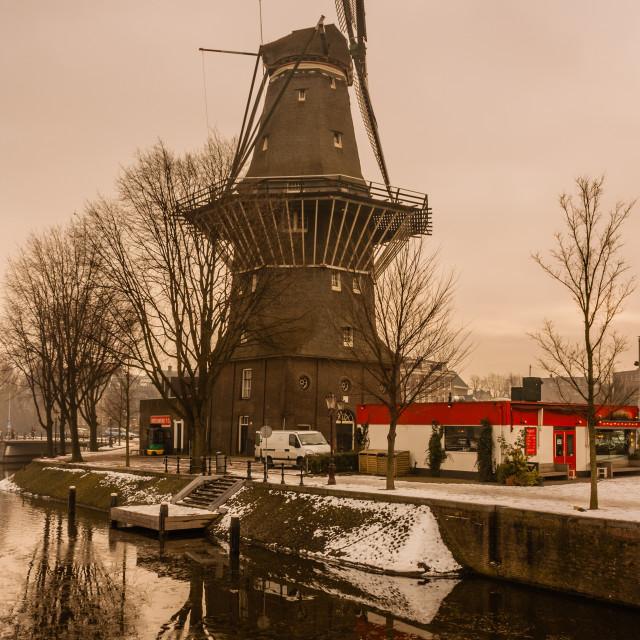 """Amsterdam Windmill"" stock image"