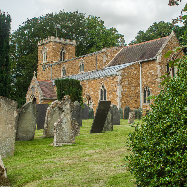 """""""St Peter and St Paul church, Knossington"""" stock image"""