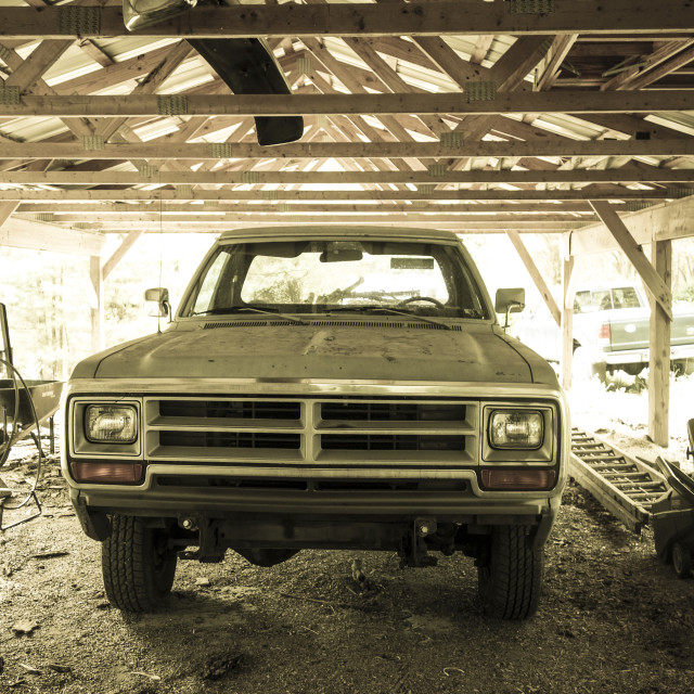 """Old pickup truck"" stock image"
