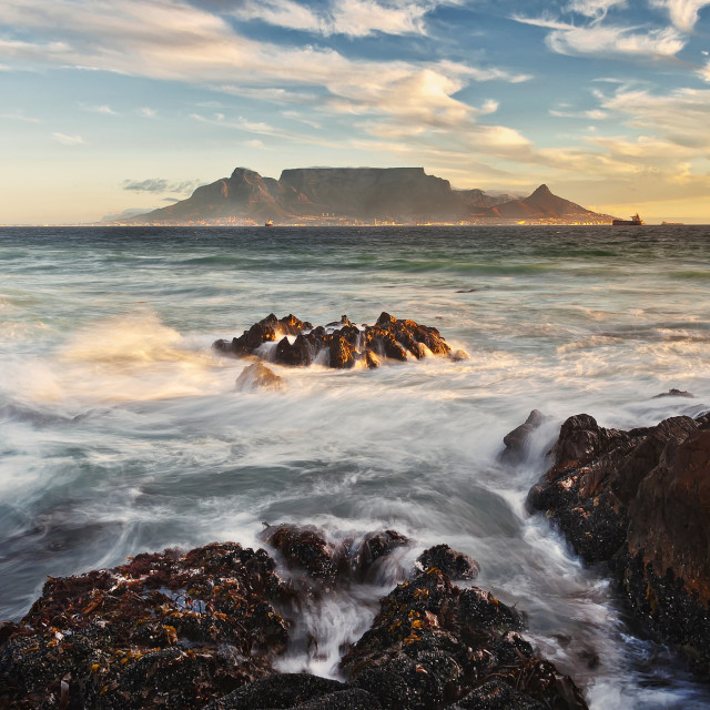 """""""Table Bay Sunset"""" stock image"""