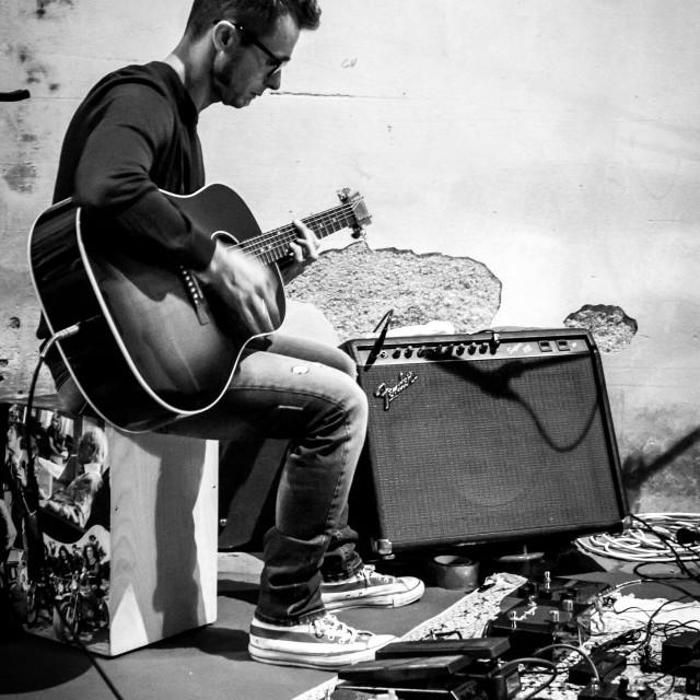 """""""il chitarrista"""" stock image"""