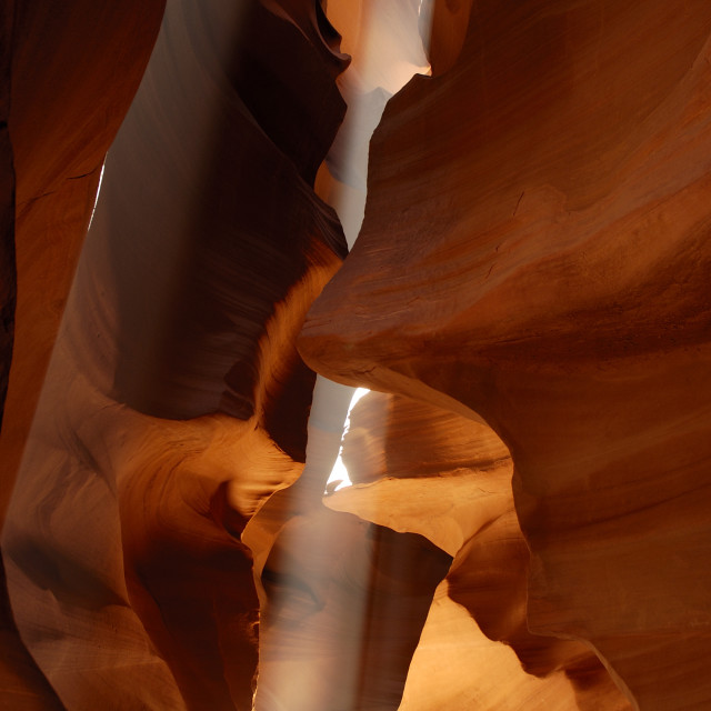 """Antelope Canyon - Cone of Sunlight"" stock image"