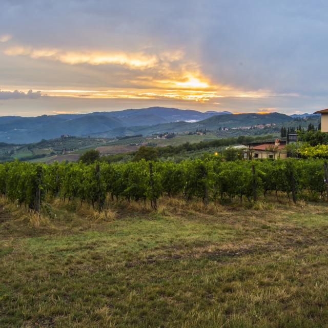 """""""Toscany Sunset"""" stock image"""