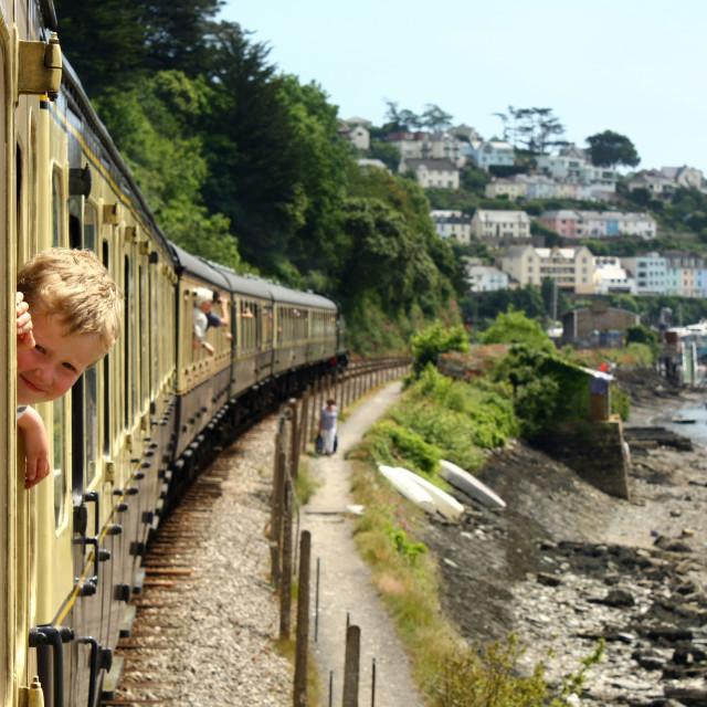 """""""Train Ride"""" stock image"""