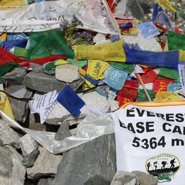 """Everest Base Camp"" stock image"