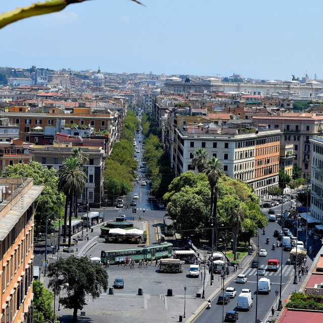 """View of Rome city"" stock image"