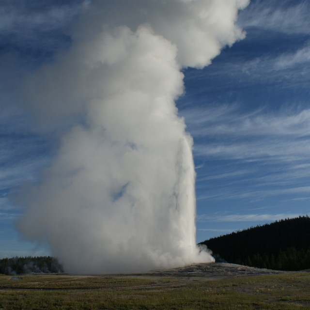 """Old Faithful Geyser"" stock image"