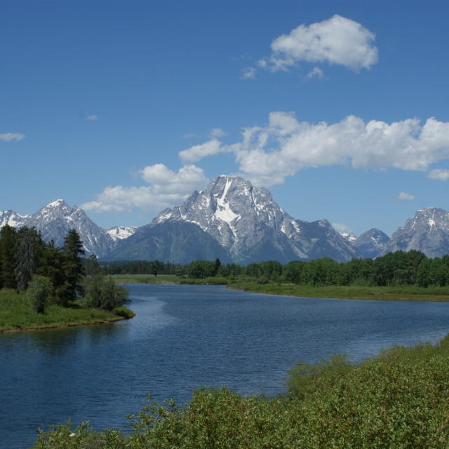 """Oxbow Bend, Grand Teton National Park"" stock image"
