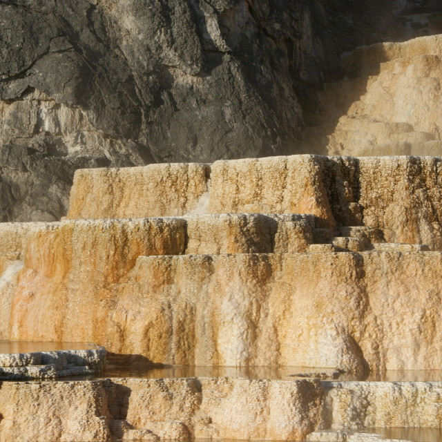 """Mineral Terrace's at Mammoth Hot Springs"" stock image"