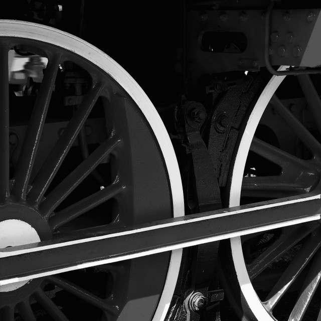 """Locomotive Wheels"" stock image"