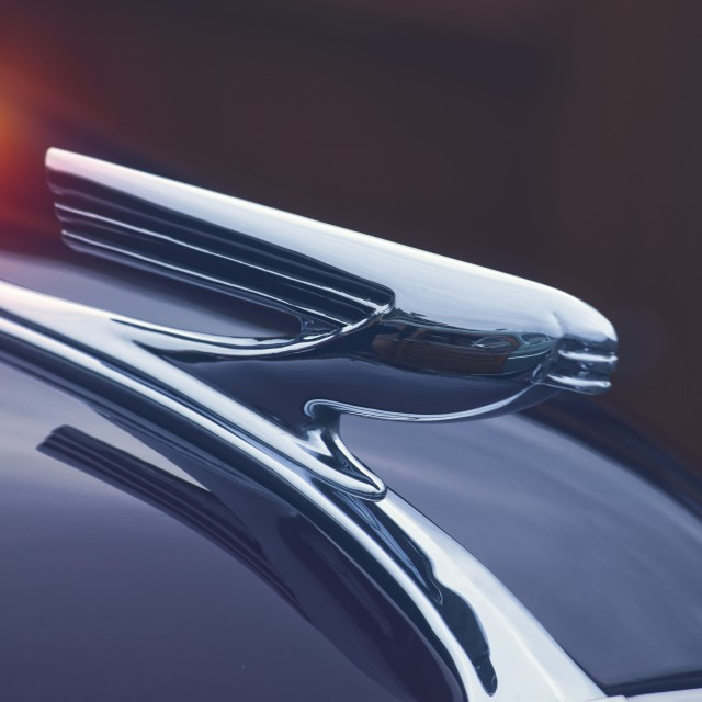 """Hood Ornament"" stock image"