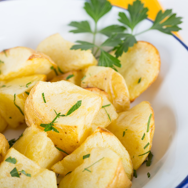"""Fried potatoes"" stock image"