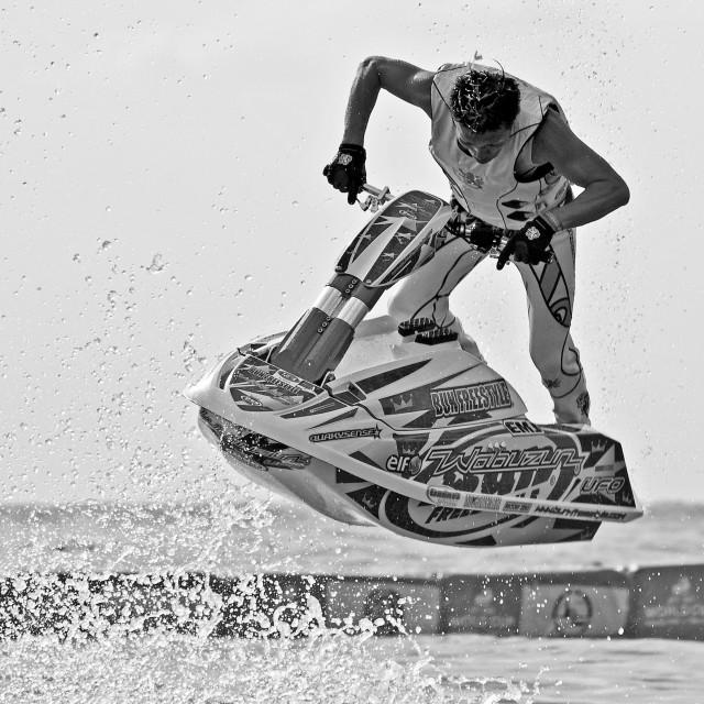 """""""Jet Ski Freestyle Championships (IV)"""" stock image"""