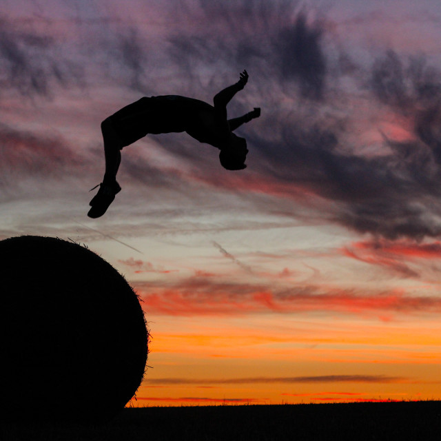 """Backflips in Belgium."" stock image"