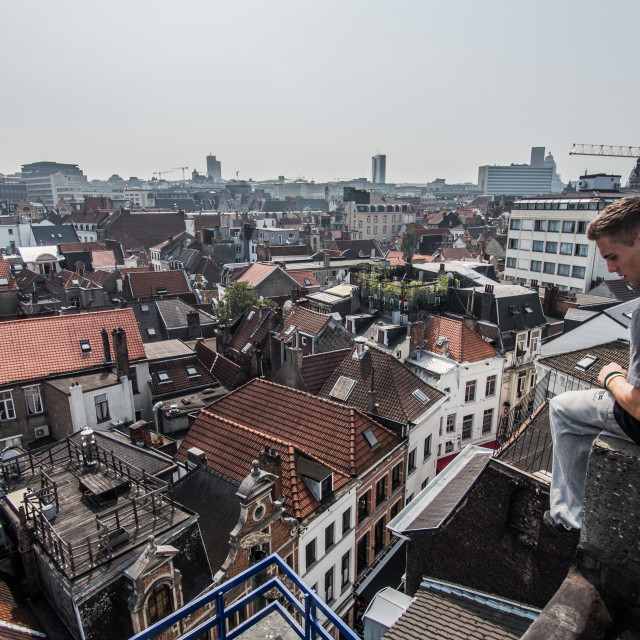"""On Top of Brussels in Belgium!"" stock image"