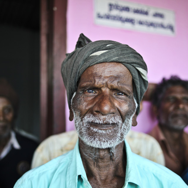 """Old indian man with turban"" stock image"