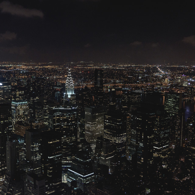 """New York at night"" stock image"
