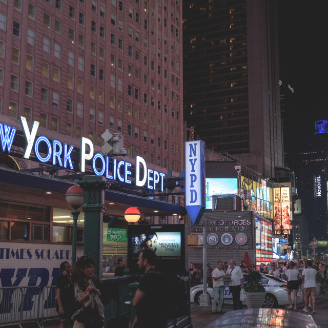 """""""Times Square NYPD"""" stock image"""
