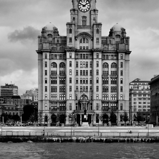 """The Liver Building"" stock image"
