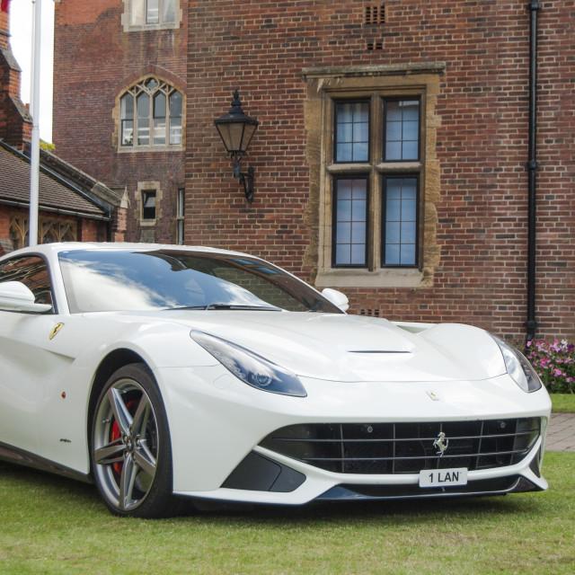 """White Ferrari California"" stock image"