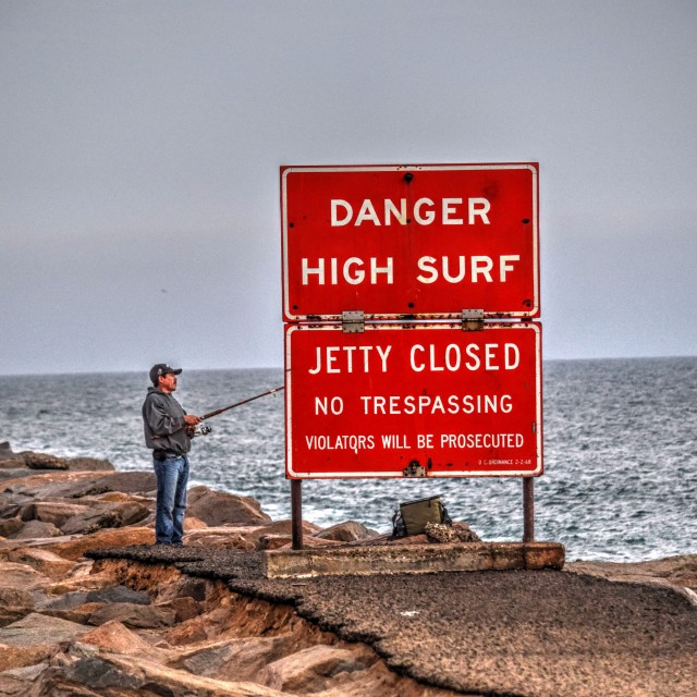 """High Surf Warning"" stock image"