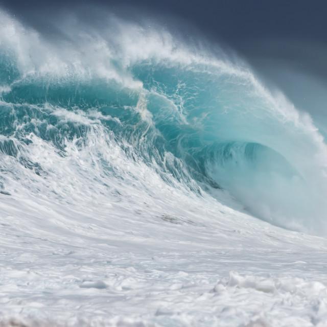 """""""Big Ocean Wave"""" stock image"""