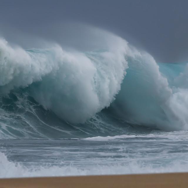 """""""Big shore break Ocean Wave"""" stock image"""