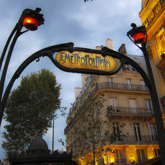"""Metro station in Paris"" stock image"