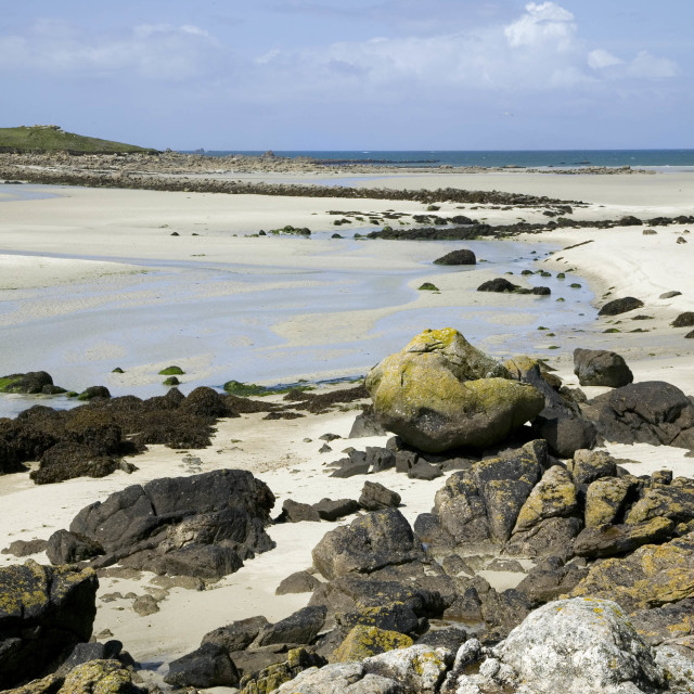 """""""Beach of Guisseny, Brittany, France"""" stock image"""