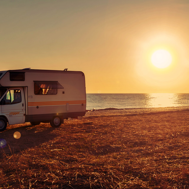 """Travelling by camper"" stock image"