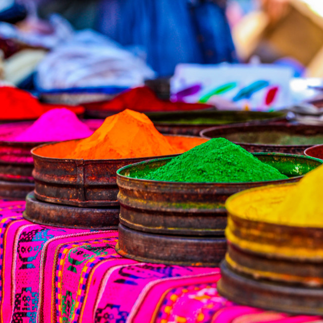"""Colors at Peruvian market"" stock image"