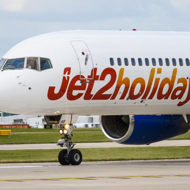 """A Jet2 Boeing 757-200 aeroplane"" stock image"
