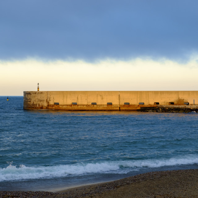 """Coast in Barcelona"" stock image"