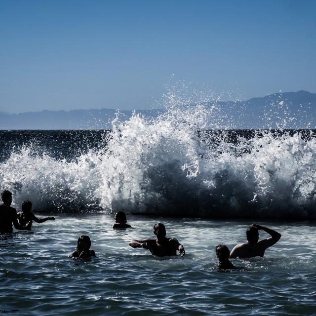 """People swimming and having fun"" stock image"
