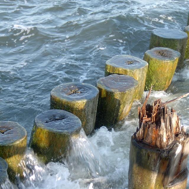 """old breakwater"" stock image"