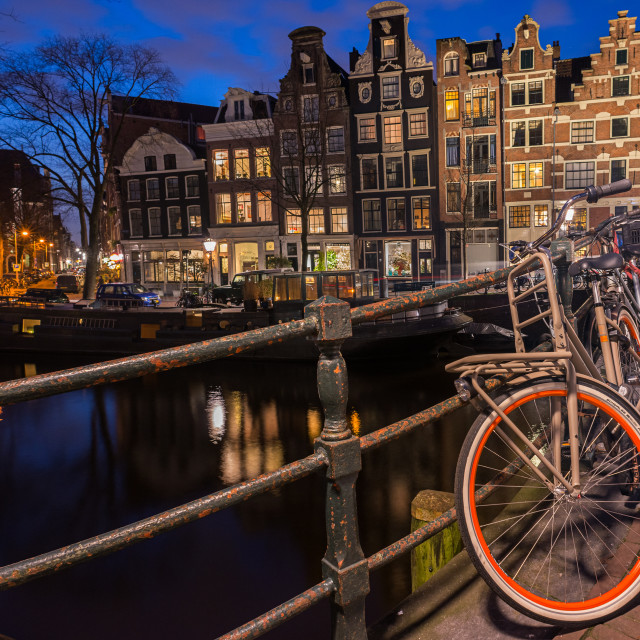 """""""Blue Hour in Amsterdam, Holland"""" stock image"""