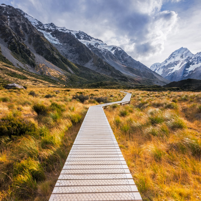 """Hooker Valley"" stock image"
