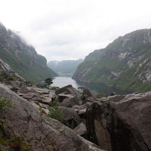 """norwegian fiord"" stock image"