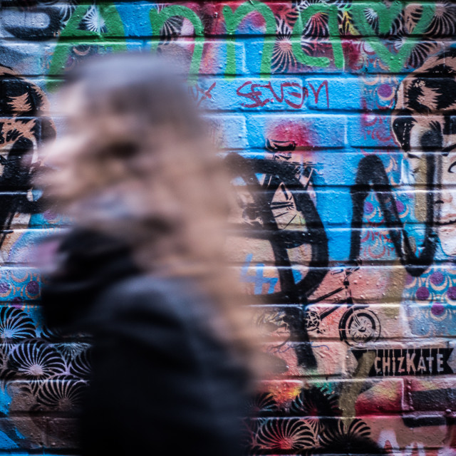 """Looking For Street Art"" stock image"