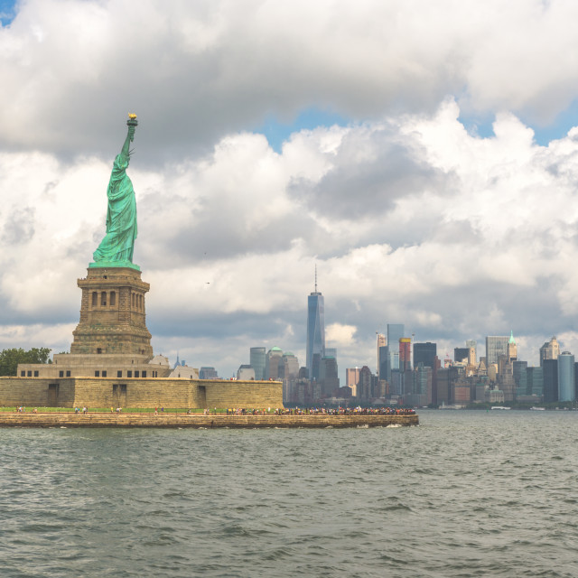 """Liberty and New York"" stock image"