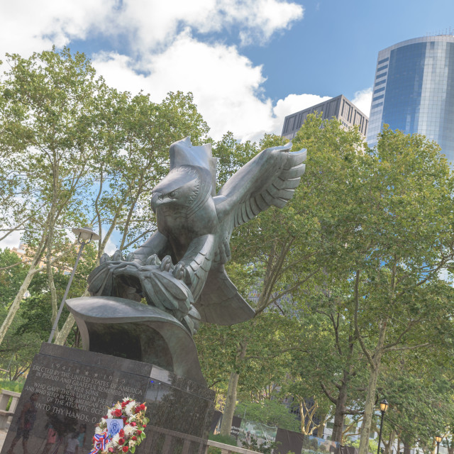 """War Memorial NYC"" stock image"