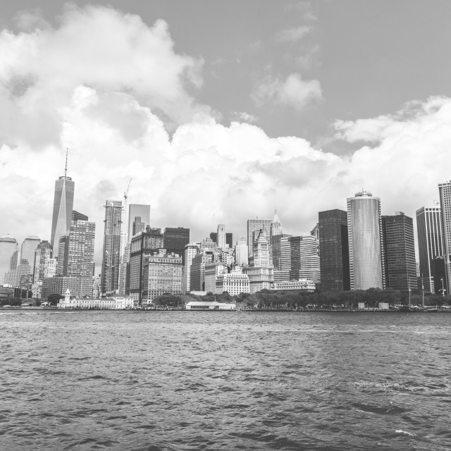 """Black and white NYC"" stock image"