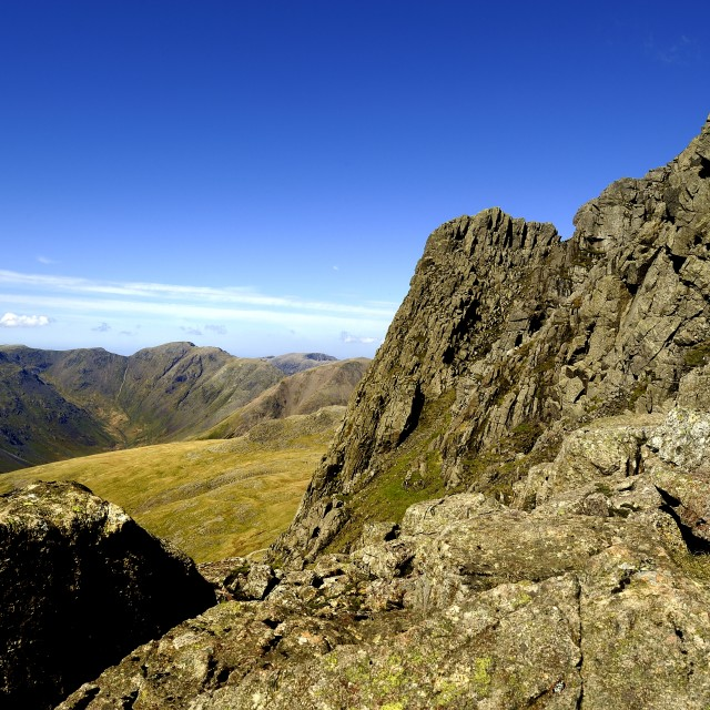 """""""Pulpit Rock of Scafell Pike"""" stock image"""