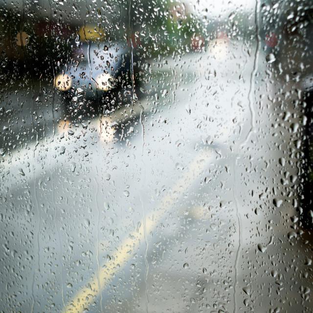 """""""UK Weather:Heavy Rain Nottingham."""" stock image"""