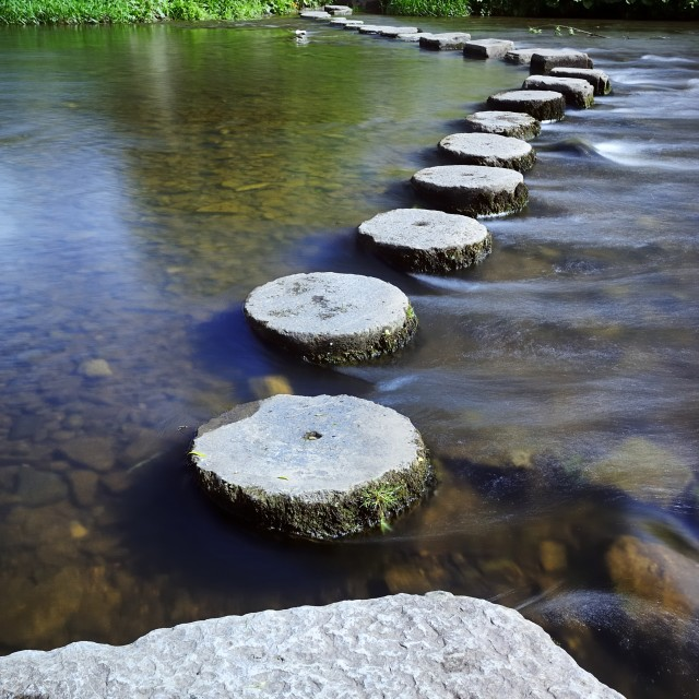 """Circular Stepping Stones"" stock image"