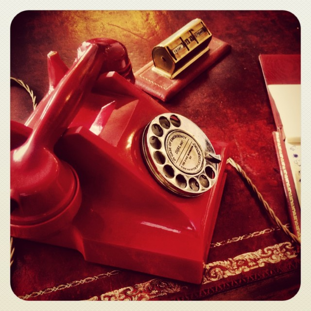 """Red Telephone"" stock image"