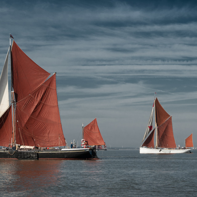 """Thames Barge match Aug 2015"" stock image"