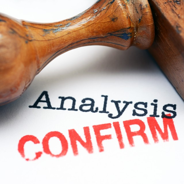 """Analysis confirm"" stock image"