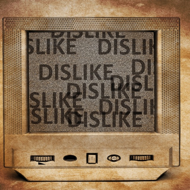 """Dislike TV"" stock image"