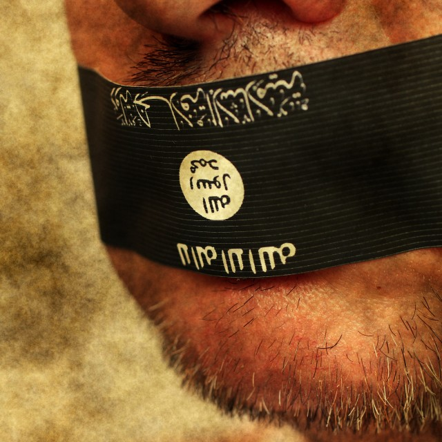 """ISIS prisoner of war"" stock image"
